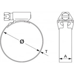Serflex Collier bande pleine L 9 mm