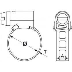 Serflex Collier  bande ajourée 8 mm
